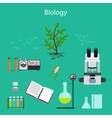 Biology research cartoon vector image