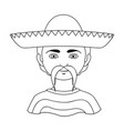 mexicanhuman race single icon in outline style vector image