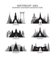 southeast asia buddhist and hinduism architecture vector image