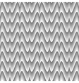 Design seamless monochrome zigzag wave pattern vector image