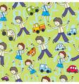 children  numerals vector image vector image