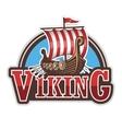 Viking ship sport logo vector image