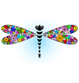fantasy floral dragonfly vector image vector image