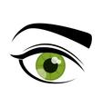 Eye design Cartoon icon White background vector image
