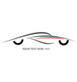 sport car icon on white vector image vector image