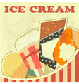 Ice Cream Retro color vector image vector image