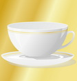 cup with saucer vector image vector image