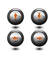 Arrows round button vector image