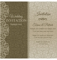 Baroque invitation dull gold vector image