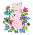 cartoon pink bunny vector image