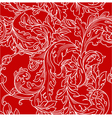 Classic baroque floral seamless pattern vector image