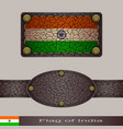 label of a flag of india vector image