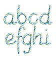 letters a b c d e g g h i 3d vector image