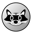 Raccoon button vector image