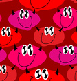 Red Devil seamless pattern Many Devils background vector image