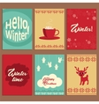 Set of cute cards about winter vector image