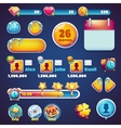 Sweet world mobile GUI set elements web games vector image