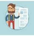Businessman giving business presentation vector image vector image