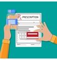 prescription Healthcare medical diagnostics vector image