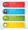 Flat Business Infographic BackgroundTemplate with vector image