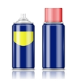 Blue spray can with red cap vector image vector image