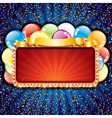 happy birthday sign with colorful balloons vector image
