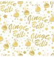 Golden bells seamless pattern vector image vector image