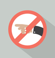 Turn Left Prohibited Sign vector image vector image