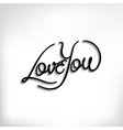 Love You hand lettering poster vector image vector image