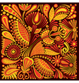 Acrylic painting flower ethnic design vector image