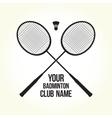 Badminton rackets silhouette club logo vector image