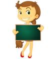 Character Holding Blackboard vector image