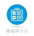 Checklist sign icon Control list symbol vector image