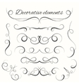 Hand drawn dividers set Decorative borders set vector image