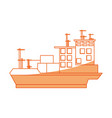 isolated big merchandise ship vector image