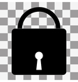 Lock icon on a transparent vector image