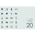 Set of electronic devices icons vector image