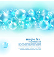 Abstract blue background with air bubbles vector image