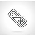 Purchase on credit black line icon vector image