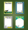 Tennis Cards vector image