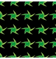 Green stars geometric seamless pattern vector image