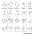 Banking service Icons vector image