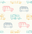 Camper Seamless Pattern vector image