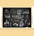 Creative blackboard idea vector image