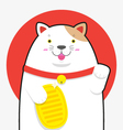 cute big fat Maneki neko lucky cat vector image