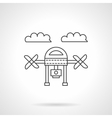 Drone with camera line icon vector image