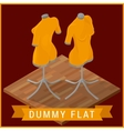 Dummy flat isometric icon vector image
