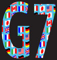 G7 icon pattern flag vector image