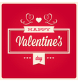 Happy valentines day card ornaments vector image