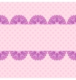 Pink pattern with floral stripe vector image
